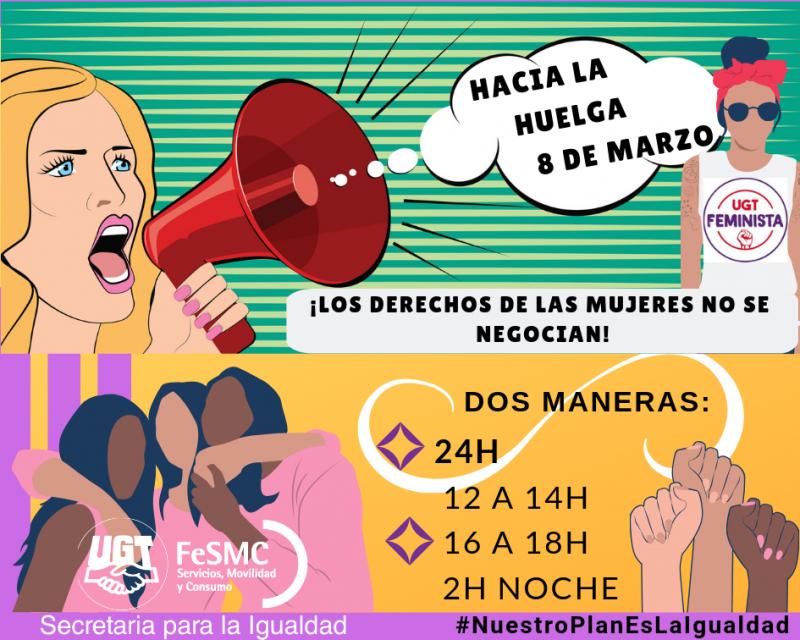 Mañana, 8 de marzo, todas y todos a la huelga feminista